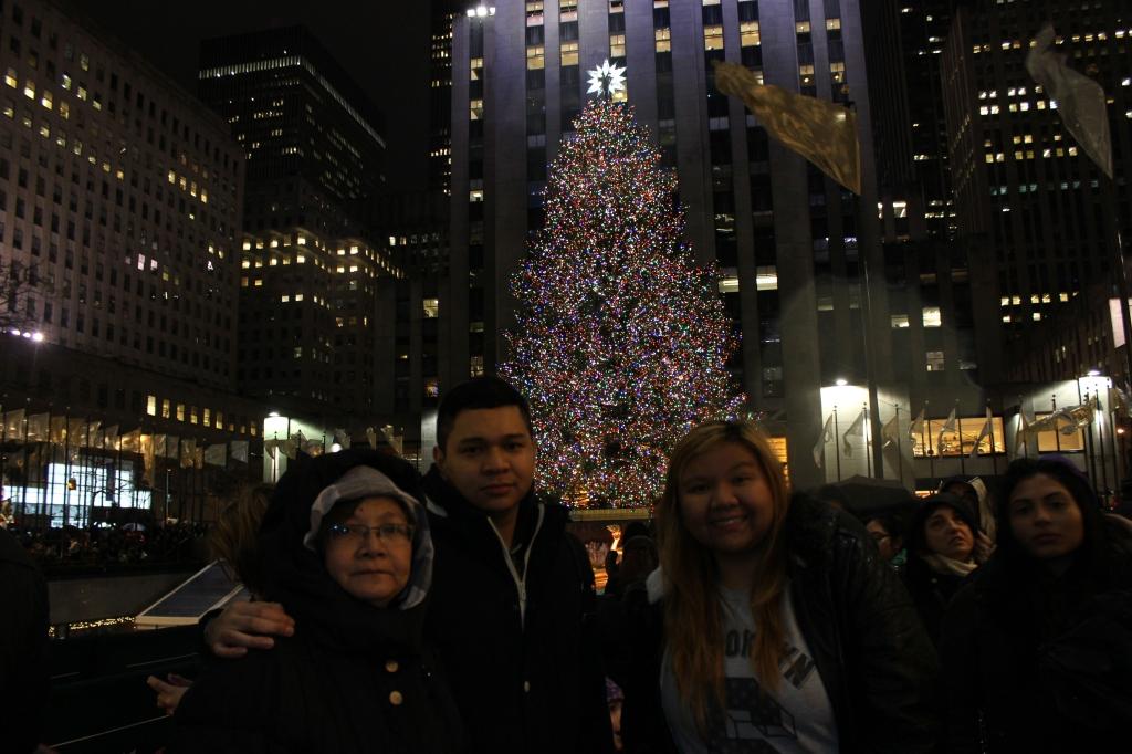Christmas at rockefeller centre new york city