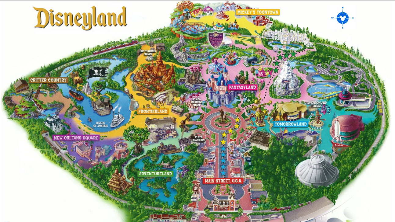 Disneyland Park , located in Anaheim, California , is an 85 acre theme ...