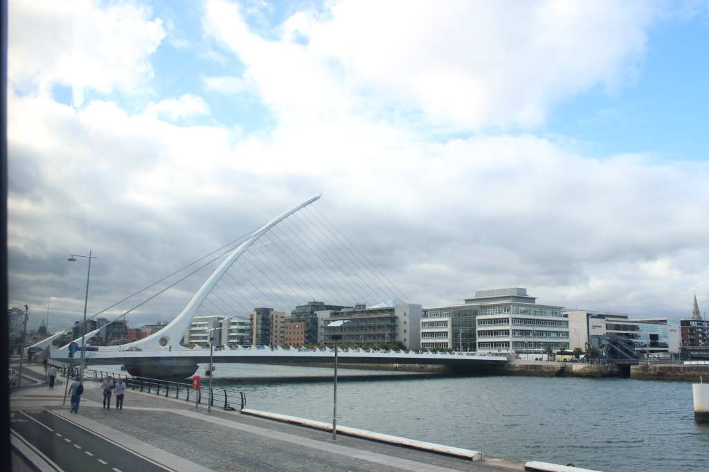 The Samuel Beckett Bridge was designed as an Irish icon in an image of a harp.