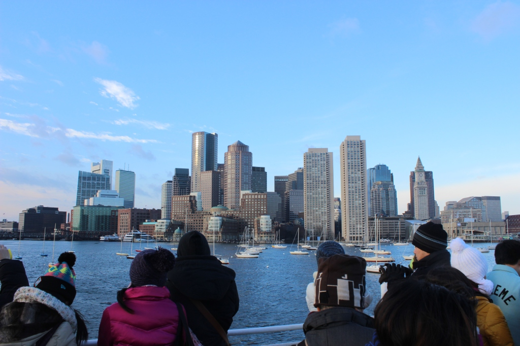 Boston skyline from a ferry