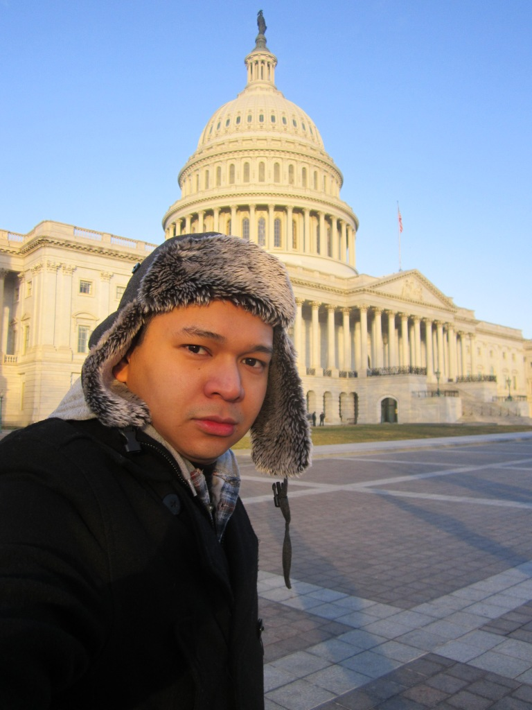 Cholo at Capitol building bucketlist250